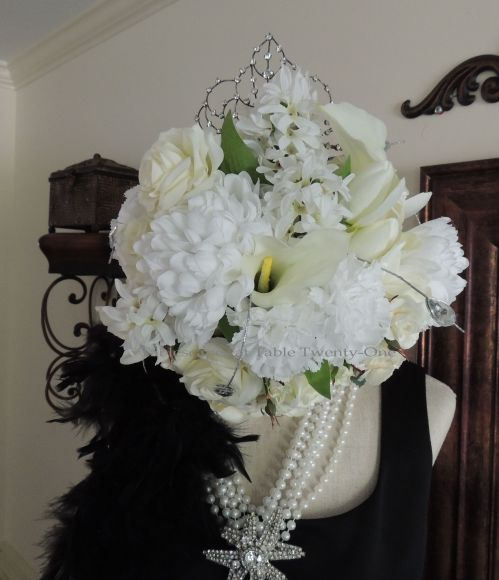 Tablescapes at Table Twenty-One - Breakfast at Tiffany's - floral head