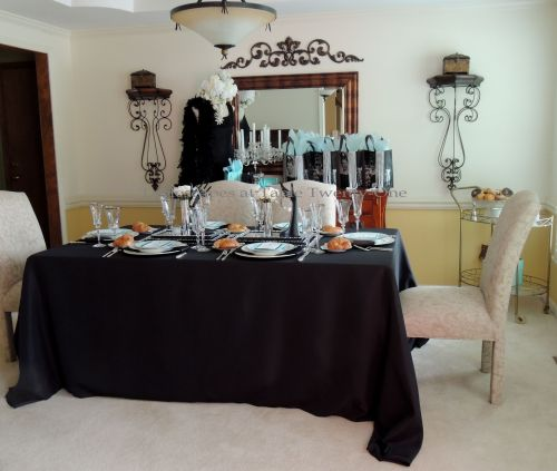 Tablescapes at Table Twenty-One - Breakfast at Tiffany's - full dining room