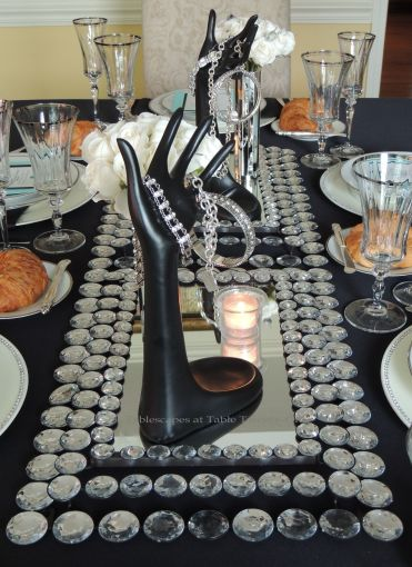 Tablescapes at Table Twenty-One - Breakfast at Tiffany's - centerpiece