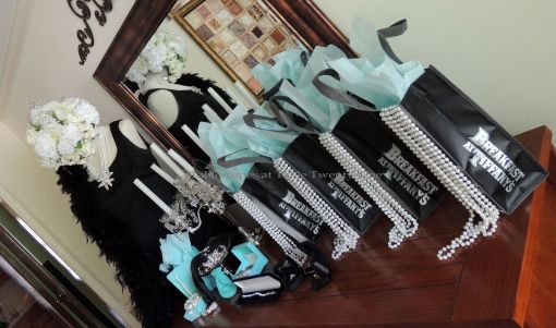 Tablescapes at Table Twenty-One - Breakfast at Tiffany's - Goodie bags