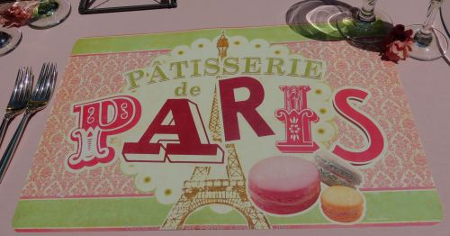 Patisserie de Paris placemat - Tablescapes at Table Twenty-One