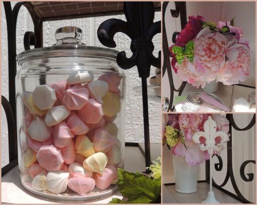 Patisserie de Paris - Tablescapes at Table Twenty-One - Floral, fleur de lis stand, meringues collage