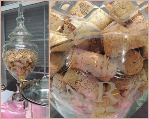 Patisserie de Paris - Tablescapes at Table Twenty-One - French decanter & corks collage