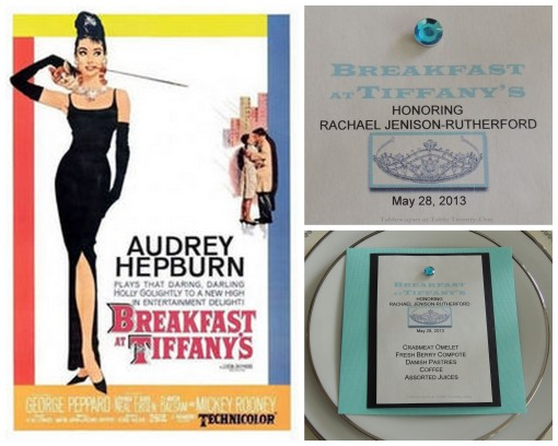 Tablescapes at Table Twenty-One - Breakfast at Tiffany's - Menu collage