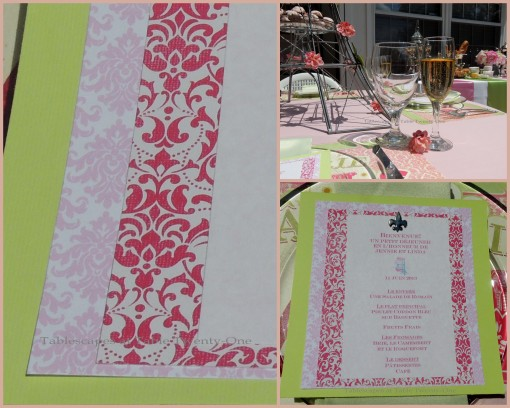 Patisserie de Paris menu - Tablescapes at Table Twenty-One