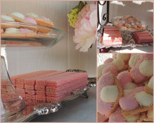 Patisserie de Paris - Tablescapes at Table Twenty-One - Sugar wafer & marshmallow cookie collage