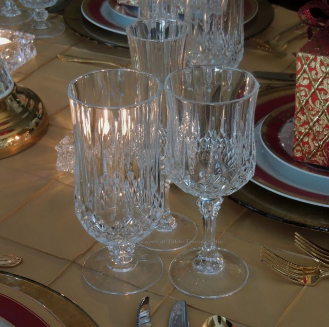 Tablescapes at Table Twenty-One: Christmas Through the Red Door - stemware