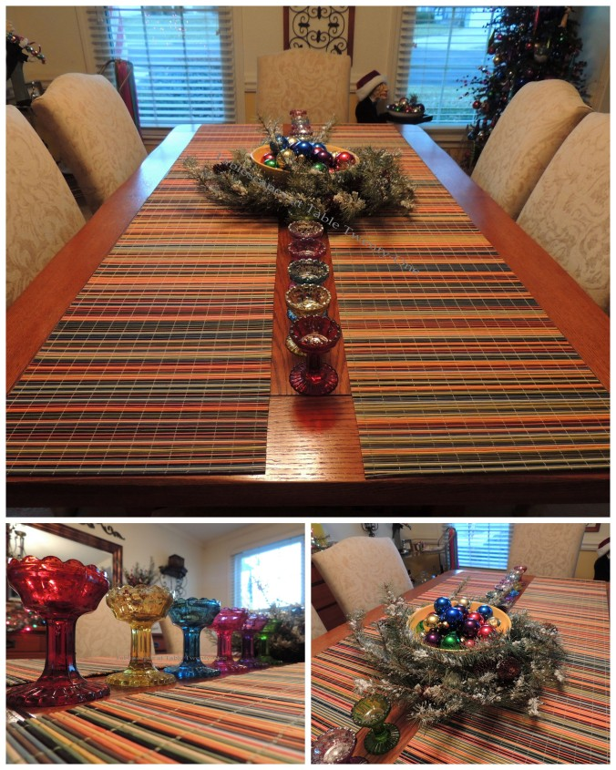 Tablescapes at Table Twenty-One, 'Twas the Night Before Christmas: Dining Room table collage