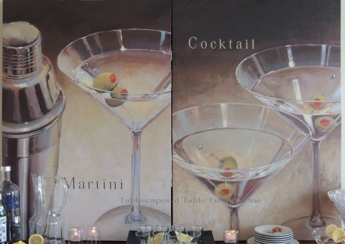 Tablescapes at Table Twenty-One, New Year's Eve Tablescape – Hooray for Vodka!: Martini canvas art