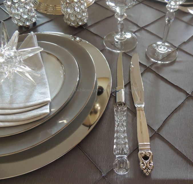 Tablescapes at Table Twenty-One, Platinum New Year's Eve Wedding: Flatware