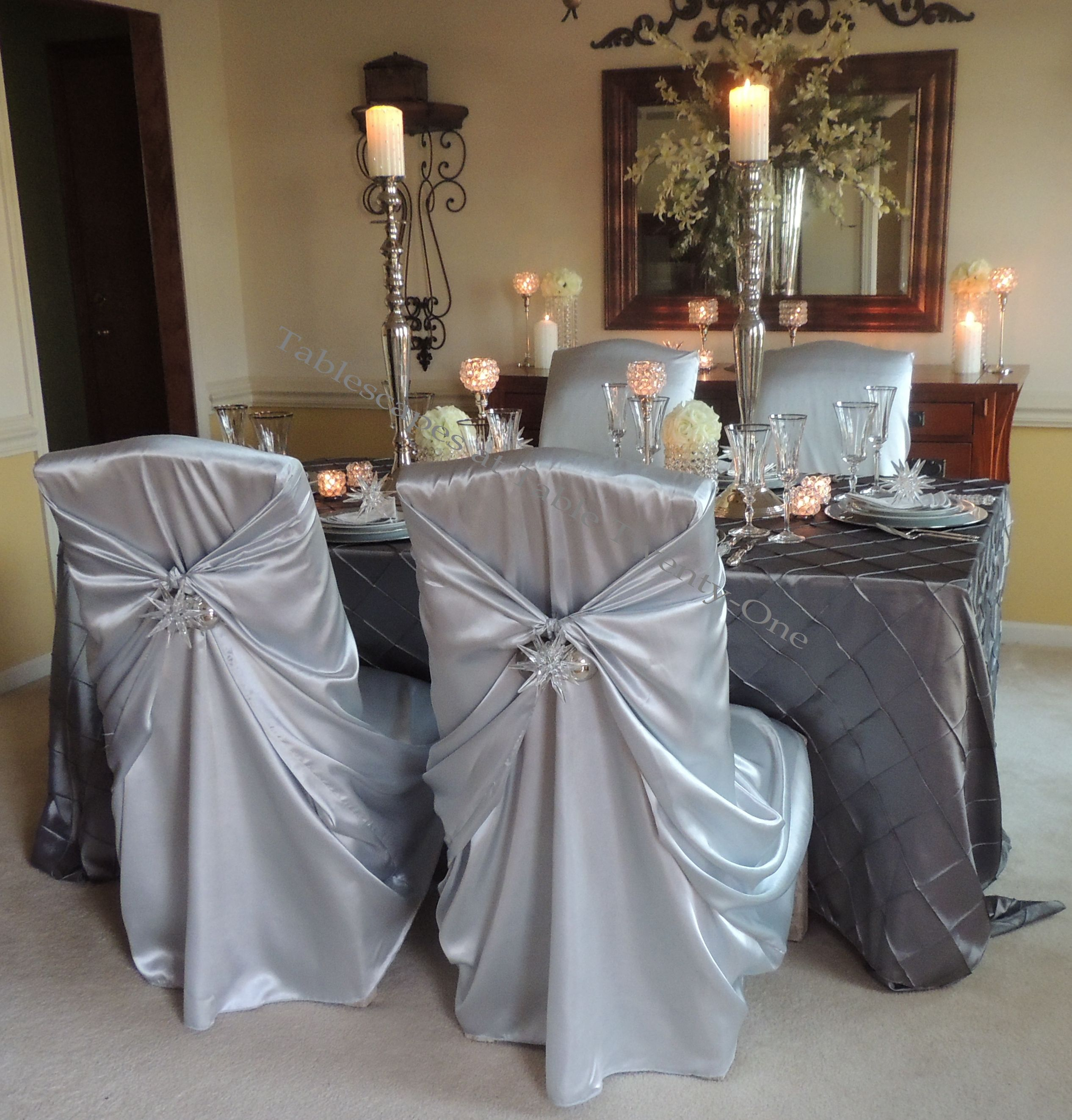 Tablescapes at Table Twenty-One, Platinum New Year's Eve Wedding: Full dining room