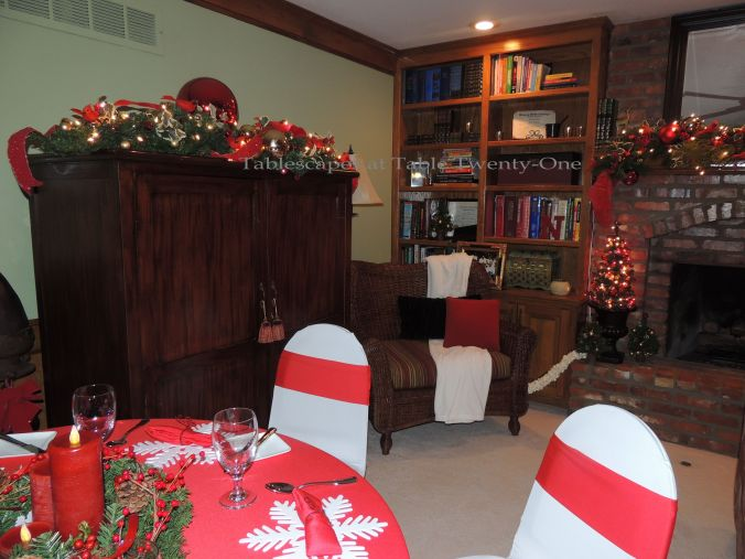 Tablescapes at Table Twenty-One, 'Twas the Night Before Christmas: Armoire