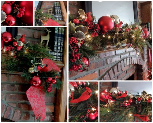 Tablescapes at Table Twenty-One, 'Twas the Night Before Christmas: Fireplace & mantel decor