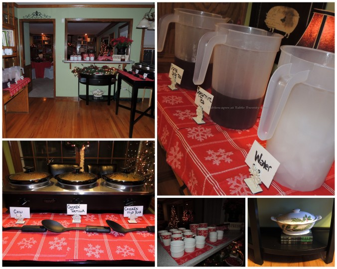 Tablescapes at Table Twenty-One, 'Twas the Night Before Christmas: Kitchen & buffet collage