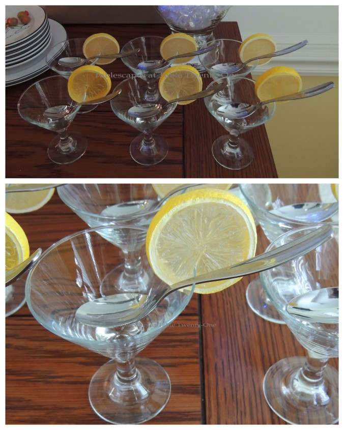 Tablescapes at Table Twenty-One, New Year's Eve Tablescape – Hooray for Vodka!: Mini martini shooters collage