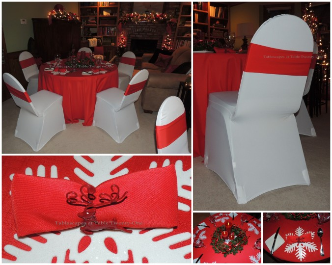 Tablescapes at Table Twenty-One, 'Twas the Night Before Christmas: Progressive Dinner set up