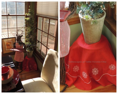 Tablescapes at Table Twenty-One, Christmas Coffee: Regina Reindeer & kitchen Christmas tree collage