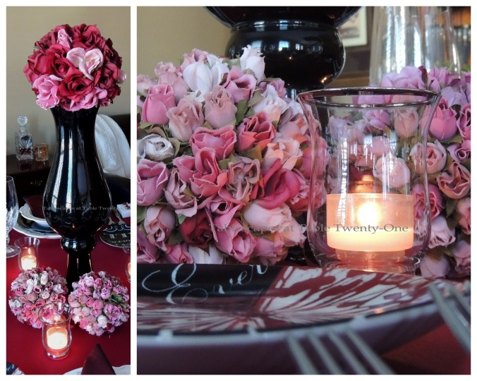 Tablescapes at Table Twenty-One – Be Still My Beating Heart: Centerpiece collage