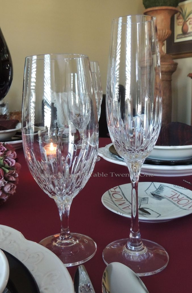 Tablescapes at Table Twenty-One – Be Still My Beating Heart: Stemware