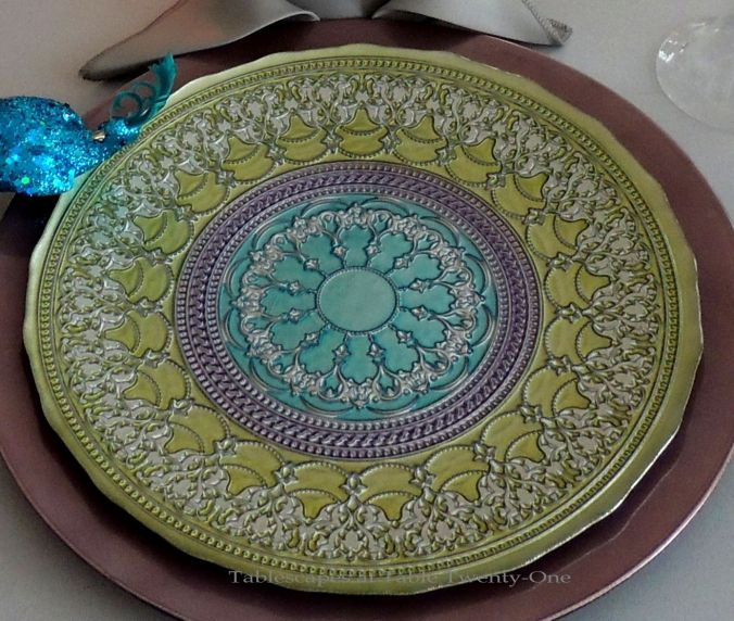 INSPIRATION: The softened peacock-like colors and design in this Home Goods plate