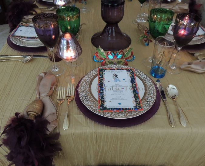 Tablescapes at Table Twenty-One, www.tabletwentyone.wordpress.com: Celebrate Mardi Gras! - Place setting