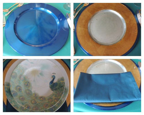 Tablescapes at Table Twenty-One, www.tabletwentyone.wordpress.com - Simply Peacock Garden: Stack collage