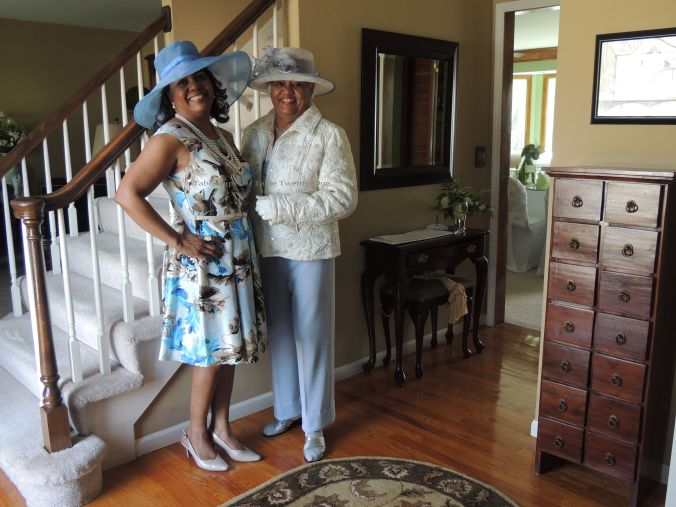 Mom and me...and yes, we both just happened to show up in blue!