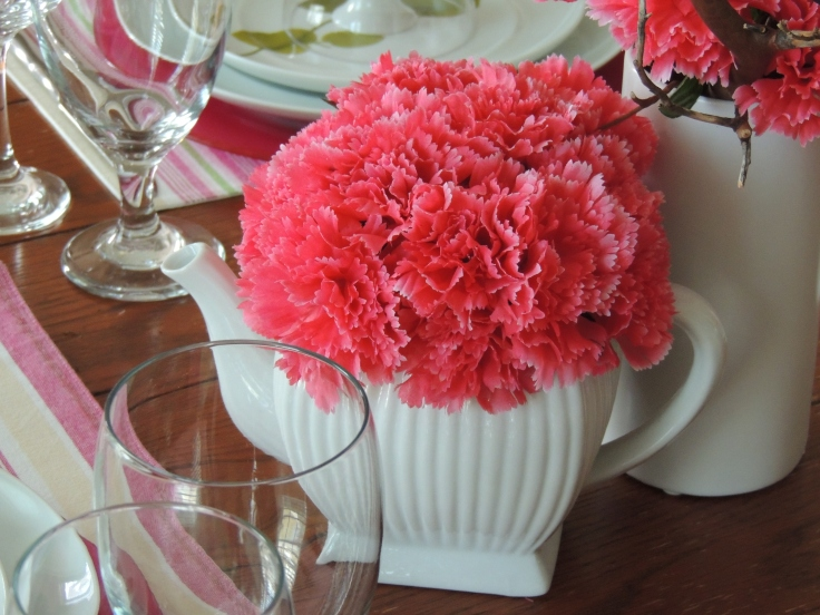 Tablescapes at Table Twenty-One, www.tabletwentyone.wordpress.com - All A'Bloom in Pink for Spring