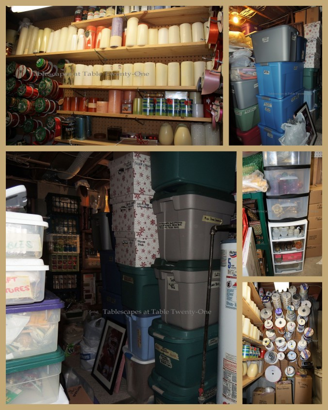 Here's more of the stuff in this room. Storing spools of ribbon on pegboards is really convenient.