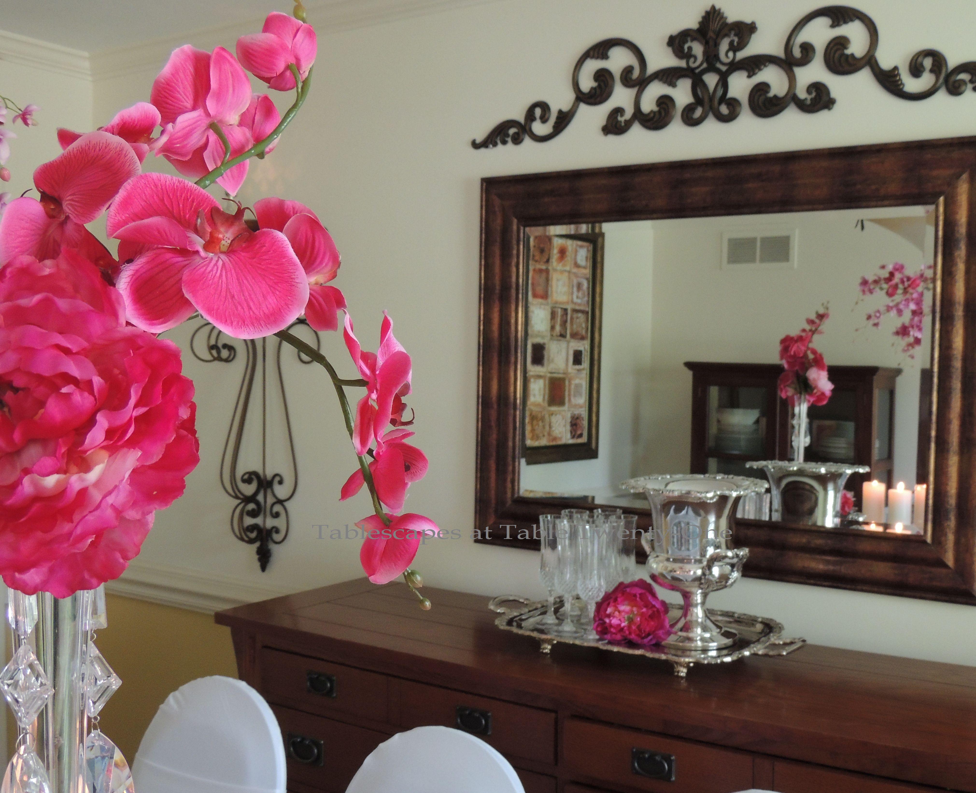 Tablescapes at Table Twenty-One, www.tabletwentyone.wordpress.com: My Sister's Wedding China - Buffet table