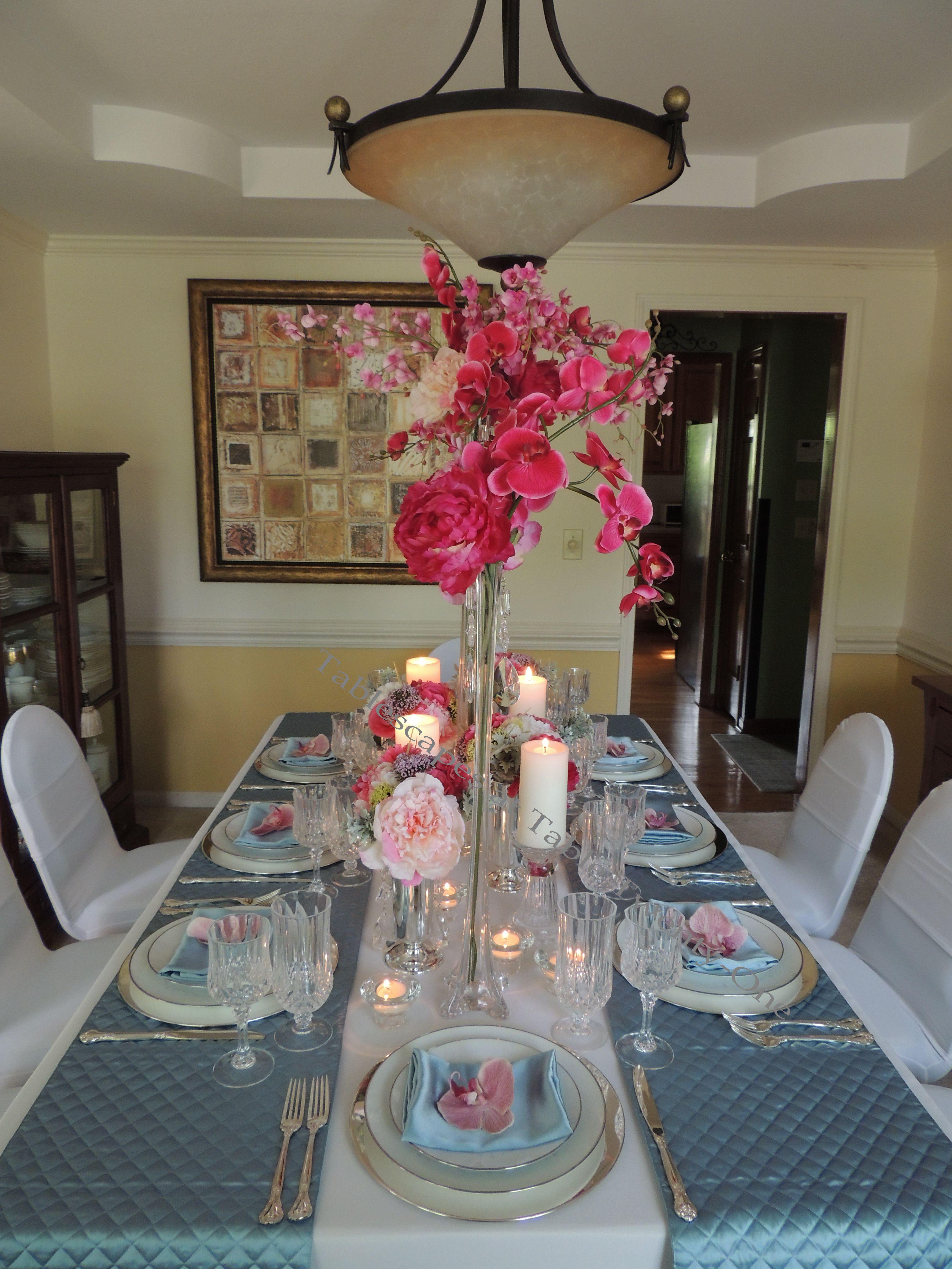 Tablescapes at Table Twenty-One, www.tabletwentyone.wordpress.com: My Sister's Wedding China - Table