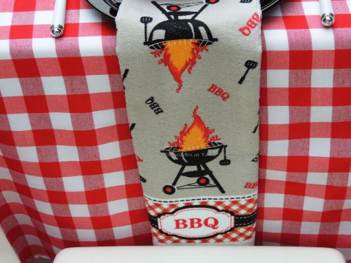 INSPIRATION: BBQ Towel/Napkin, just $1 each from Dollar Tree