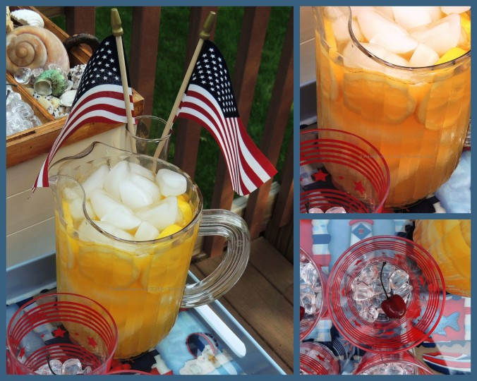 Tablescapes at Table Twenty-One, www.tabletwentyone.wordpress.com, 4th of July Coastal Style: Drink tray collage