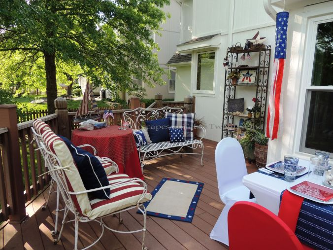 Tablescapes at Table Twenty-One, www.tabletwentyone.wordpress.com, 4th of July Coastal Style: Outdoor living room in red, white & blue