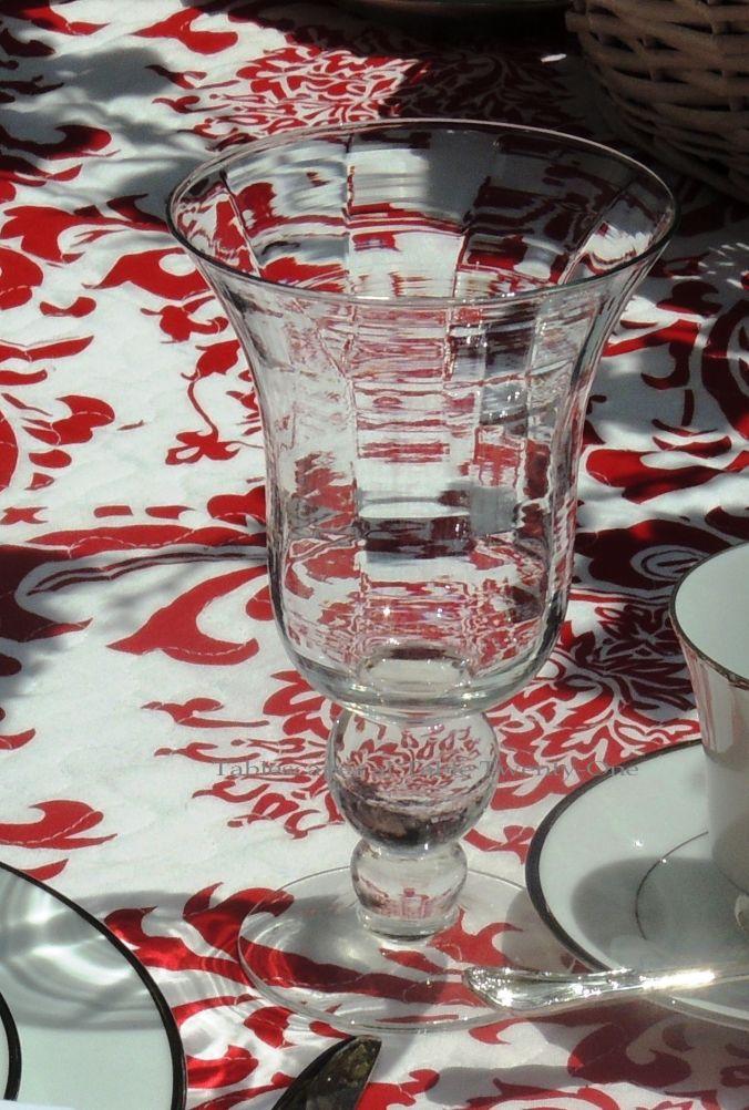 Tablescapes at Table Twenty-One, www.tabletwentyone.wordpress.com, Midsummer Shabby Chic Apple Tablescape: water glass