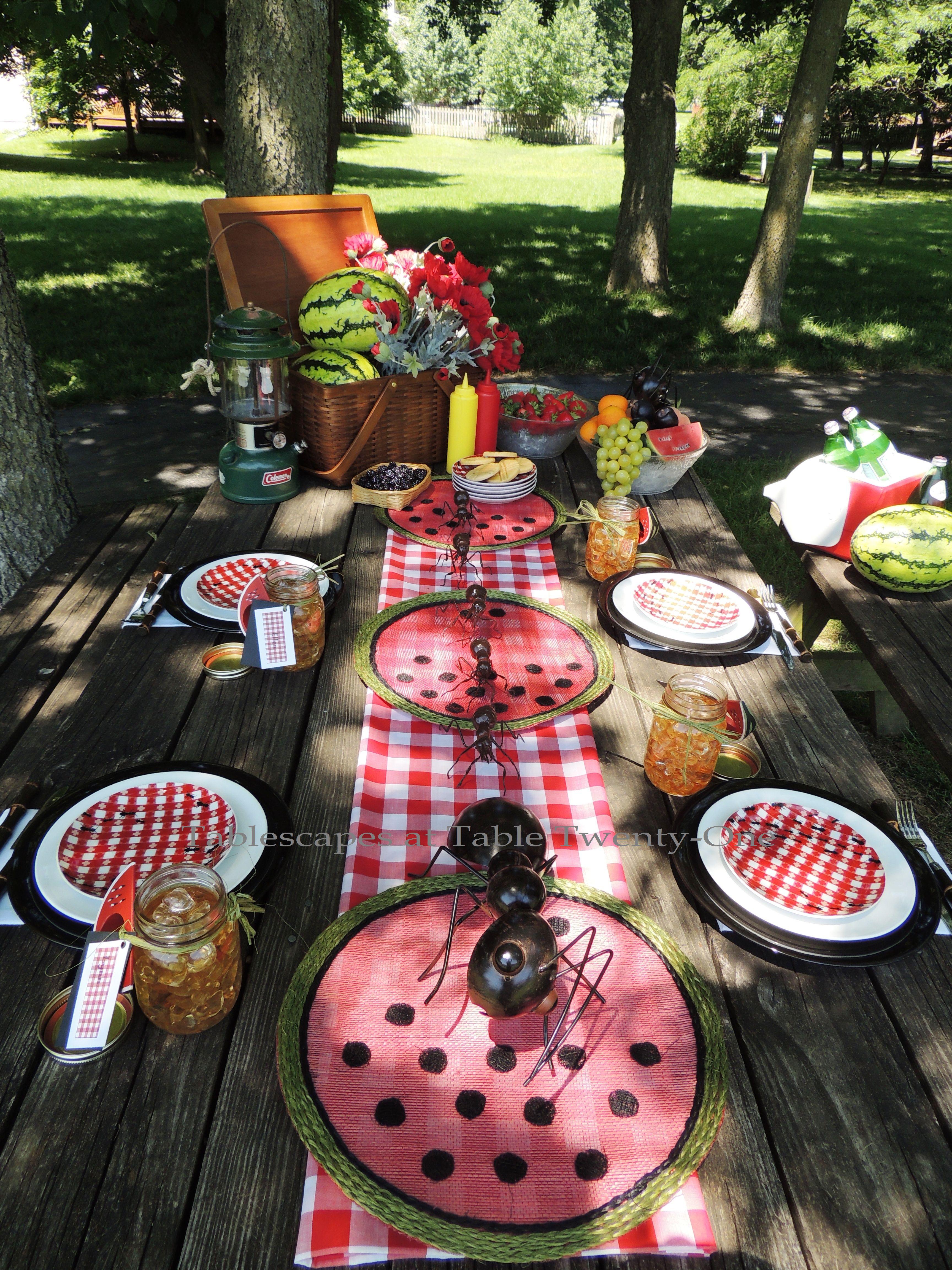 Tablescapes at Table Twenty-One, www.tabletwentyone.wordpress.com, Picnic Ants - Full tabletop