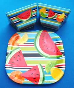 INSPIRATION: Fun summertime melamine dishes found at Tuesday Morning.