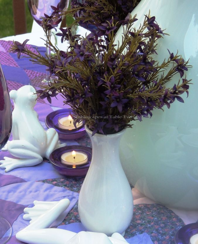 Tablescapes at Table Twenty-One, www.tabletwentyone.wordpress.com, Luscious Layers of Lavender: Small florals