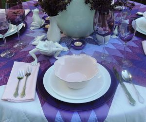 Tablescapes at Table Twenty-One, www.tabletwentyone.wordpress.com, Luscious Layers of Lavender: Place setting