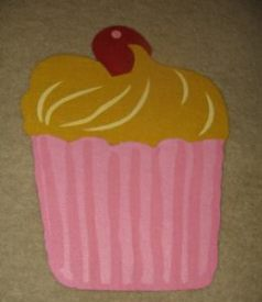 INSPIRATION: Cupcake placemats from Pier 1 purchased several seasons ago.
