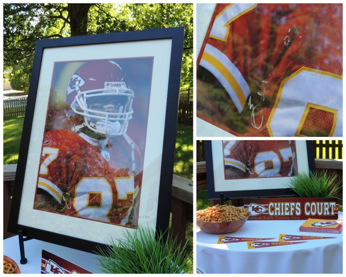 Tablescapes at Table Twenty-One, www.tabletwentyone.wordpress.com, Chiefs Pride: Side table collage