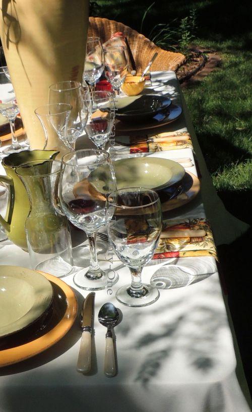 Tablescapes at Table Twenty-One, www.tabletwentyone.wordpress.com, Italian Honeysuckle: Multiple place settings