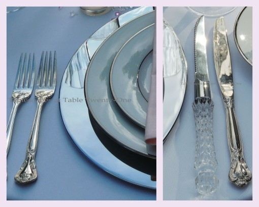 Tablescapes at Table Twenty-One, www.tabletwentyone.wordpress.com, Bald Is Beautiful: Flatware collage