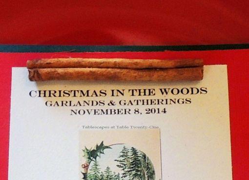 "Alycia Nichols, Tablescapes at Table Twenty-One, www.tabletwentyone.wordpress.com, ""Christmas in the Woods"": Menu"