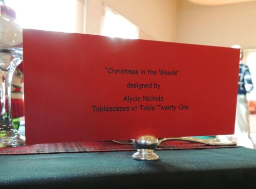 "Alycia Nichols, Tablescapes at Table Twenty-One, www.tabletwentyone.wordpress.com, ""Christmas in the Woods"""