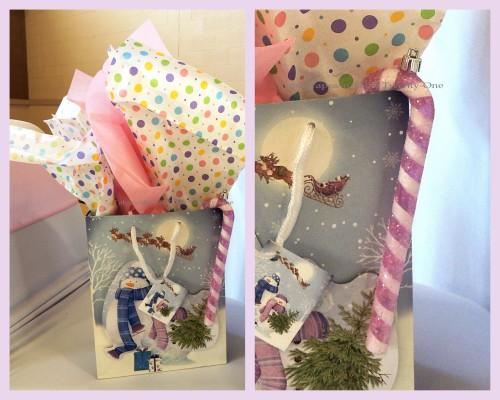"Alycia Nichols, Tablescapes at Table Twenty-One, www.tabletwentyone.wordpress.com, ""Confectionery Christmas"" – Gift bag collage"