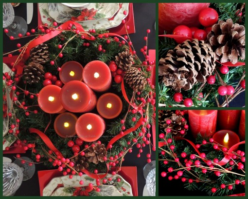 Alycia Nichols, Tablescapes at Table Twenty-One, www.tabletwentyone.wordpress.com, Cardinal Christmas: Centerpiece collage
