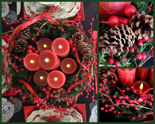 Alycia Nichols, Tablescapes at Table Twenty-One, www.tabletwentyone.wordpress.com, Cardinal Christmas: Centerpiece collage