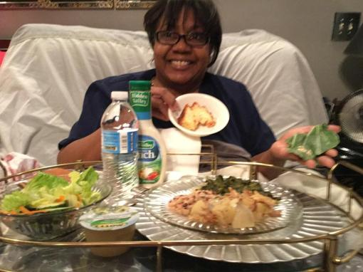 Mom also whipped up a wonderful New Year's Day dinner with blackeyed peas and collard greens for prosperity.