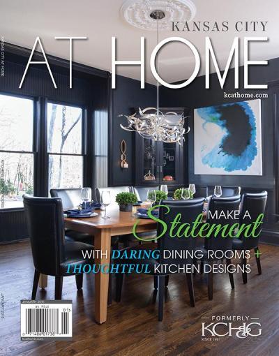 Kansas City At Home Magazine, January 2015 cover